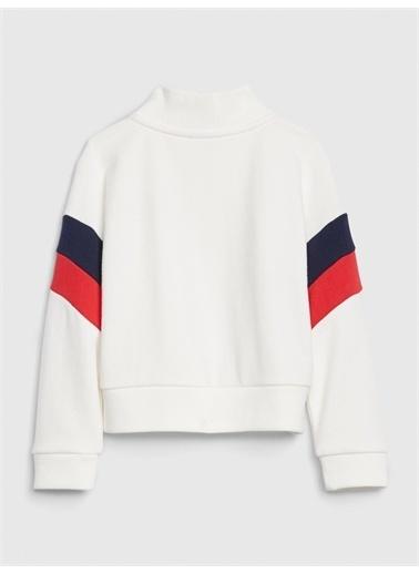 Gap Gap Logo Yarım Fermuarlı Sweatshirt Beyaz